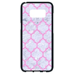Tile1 White Marble & Pink Colored Pencil (r) Samsung Galaxy S8 Black Seamless Case