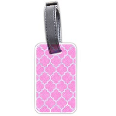 Tile1 White Marble & Pink Colored Pencil Luggage Tags (one Side)  by trendistuff