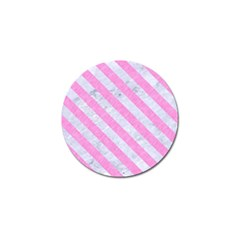 Stripes3 White Marble & Pink Colored Pencil Golf Ball Marker (10 Pack) by trendistuff