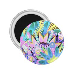 Floral Pattern Tropical Hawaiian Retro  2 25  Magnets by CrypticFragmentsColors