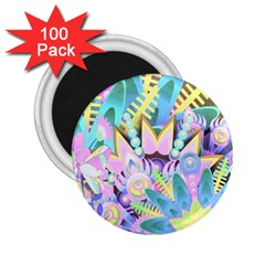 Floral Pattern Tropical Hawaiian Retro  2 25  Magnets (100 Pack)  by CrypticFragmentsColors