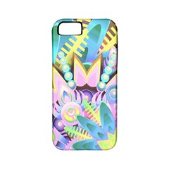 Floral Pattern Tropical Hawaiian Retro  Apple Iphone 5 Classic Hardshell Case (pc+silicone) by CrypticFragmentsColors