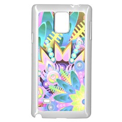 Floral Pattern Tropical Hawaiian Retro  Samsung Galaxy Note 4 Case (white) by CrypticFragmentsColors
