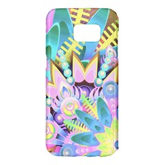Floral Pattern Tropical Hawaiian Retro  Samsung Galaxy S7 Edge Hardshell Case