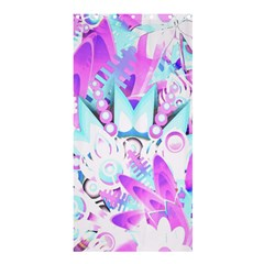Hawaiian Retro Tropical Floral Print Pink Blue Shower Curtain 36  X 72  (stall)  by CrypticFragmentsColors