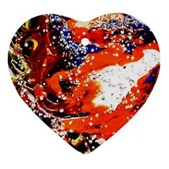 Smashed Butterfly 2 Ornament (heart) by bestdesignintheworld