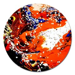 Smashed Butterfly 2 Magnet 5  (round) by bestdesignintheworld