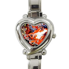 Smashed Butterfly 2 Heart Italian Charm Watch