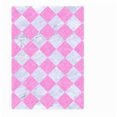 Square2 White Marble & Pink Colored Pencil Large Garden Flag (two Sides) by trendistuff