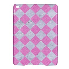 Square2 White Marble & Pink Colored Pencil Ipad Air 2 Hardshell Cases by trendistuff