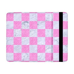 Square1 White Marble & Pink Colored Pencil Samsung Galaxy Tab Pro 8 4  Flip Case by trendistuff