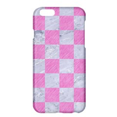 Square1 White Marble & Pink Colored Pencil Apple Iphone 6 Plus/6s Plus Hardshell Case by trendistuff