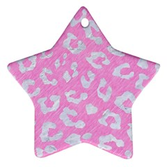 Skin5 White Marble & Pink Colored Pencil (r) Star Ornament (two Sides) by trendistuff