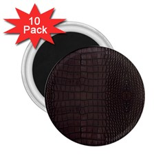 Gator Brown Leather Print 2 25  Magnets (10 Pack)