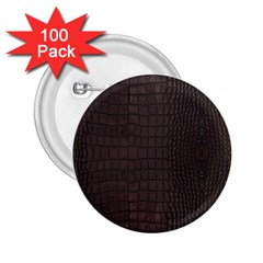 Gator Brown Leather Print 2 25  Buttons (100 Pack)