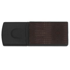 Gator Brown Leather Print Rectangular Usb Flash Drive by LoolyElzayat