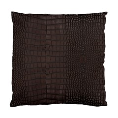 Gator Brown Leather Print Standard Cushion Case (two Sides) by LoolyElzayat