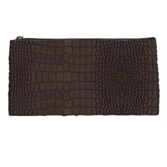 Gator Brown Leather Print Pencil Cases by LoolyElzayat