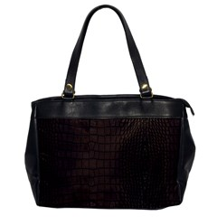 Gator Brown Leather Print Office Handbags