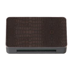 Gator Brown Leather Print Memory Card Reader With Cf