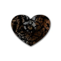 Earth Texture Tiger Shades Heart Coaster (4 Pack)  by LoolyElzayat