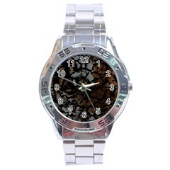 Earth Texture Tiger Shades Stainless Steel Analogue Watch by LoolyElzayat