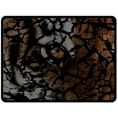 Earth Texture Tiger Shades Double Sided Fleece Blanket (large)