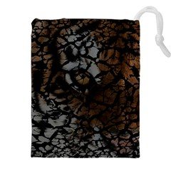 Earth Texture Tiger Shades Drawstring Pouches (xxl) by LoolyElzayat
