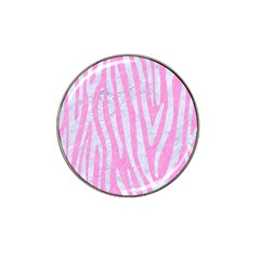 Skin4 White Marble & Pink Colored Pencil (r) Hat Clip Ball Marker (4 Pack) by trendistuff