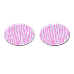 Skin4 White Marble & Pink Colored Pencil (r) Cufflinks (oval) by trendistuff