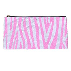 Skin4 White Marble & Pink Colored Pencil (r) Pencil Cases by trendistuff