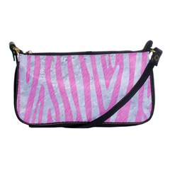Skin4 White Marble & Pink Colored Pencil (r) Shoulder Clutch Bags by trendistuff
