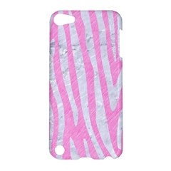 Skin4 White Marble & Pink Colored Pencil (r) Apple Ipod Touch 5 Hardshell Case by trendistuff
