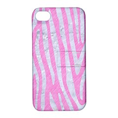 Skin4 White Marble & Pink Colored Pencil (r) Apple Iphone 4/4s Hardshell Case With Stand by trendistuff