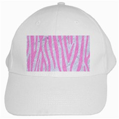Skin4 White Marble & Pink Colored Pencil White Cap by trendistuff