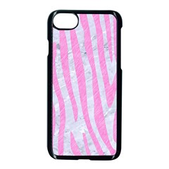 Skin4 White Marble & Pink Colored Pencil Apple Iphone 7 Seamless Case (black) by trendistuff
