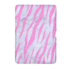Skin3 White Marble & Pink Colored Pencil (r) Samsung Galaxy Tab 2 (10 1 ) P5100 Hardshell Case  by trendistuff