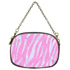 Skin3 White Marble & Pink Colored Pencil Chain Purses (two Sides)  by trendistuff
