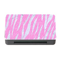 Skin3 White Marble & Pink Colored Pencil Memory Card Reader With Cf by trendistuff