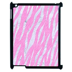 Skin3 White Marble & Pink Colored Pencil Apple Ipad 2 Case (black) by trendistuff