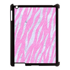 Skin3 White Marble & Pink Colored Pencil Apple Ipad 3/4 Case (black) by trendistuff