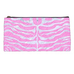 Skin2 White Marble & Pink Colored Pencil Pencil Cases by trendistuff