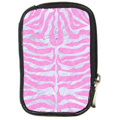 Skin2 White Marble & Pink Colored Pencil Compact Camera Cases by trendistuff