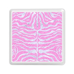 Skin2 White Marble & Pink Colored Pencil Memory Card Reader (square)  by trendistuff
