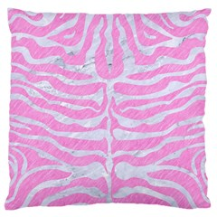 Skin2 White Marble & Pink Colored Pencil Large Cushion Case (two Sides) by trendistuff