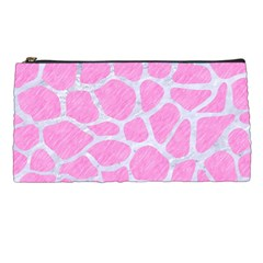 Skin1 White Marble & Pink Colored Pencil (r) Pencil Cases by trendistuff