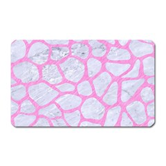 Skin1 White Marble & Pink Colored Pencil Magnet (rectangular) by trendistuff