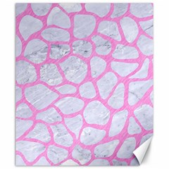 Skin1 White Marble & Pink Colored Pencil Canvas 20  X 24