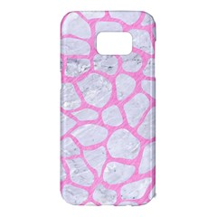 Skin1 White Marble & Pink Colored Pencil Samsung Galaxy S7 Edge Hardshell Case