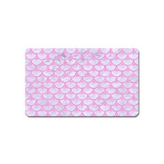 Scales3 White Marble & Pink Colored Pencil (r) Magnet (name Card) by trendistuff
